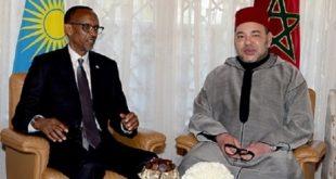 SM le Roi s'entretient au téléphone avec le président rwandais, Président en exercice de l'UA