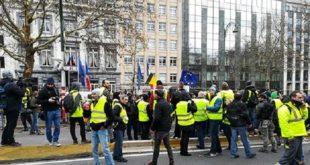 Belgique : Les gilets jaunes manifestent à Bruxelles