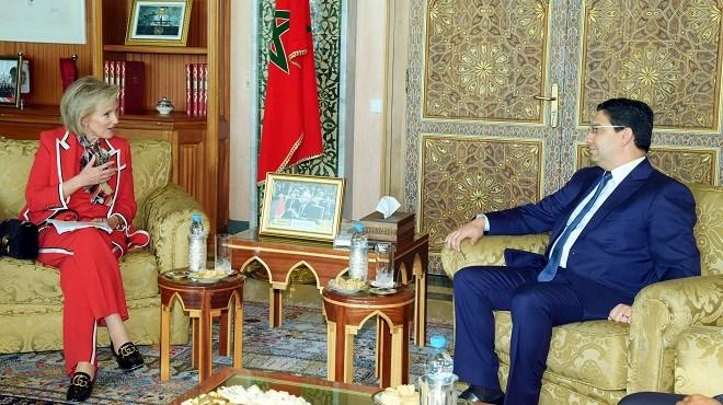 Nasser Bourita reçoit à Rabat la Princesse Astrid, Représentante du Roi Philippe de Belgique