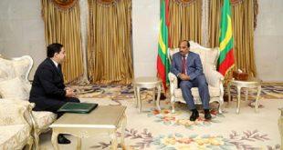 Bourita, porteur d'un message de SM le Roi Mohammed VI, reçu à Nouakchott par le Président mauritanien
