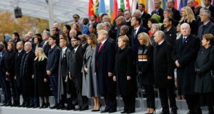 Centenaire de l'armistice : Des dizaines de chefs d'Etat et de gouvernement réunis à Paris