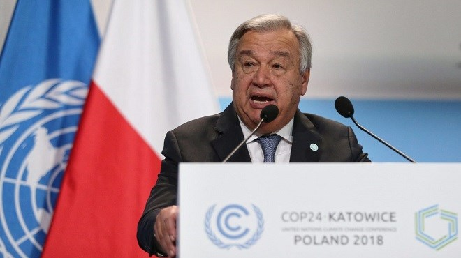 COP24 : Antonio Guterres plaide pour plus d'ambition dans la lutte contre le changement climatique