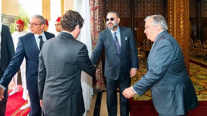 Pacte de Marrakech : SM le roi Mohammed VI reçoit Antonio Guterres au palais royal de Rabat