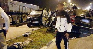 5 supporters tués et 4 autres blessées dans un accident de la circulation à El jadida