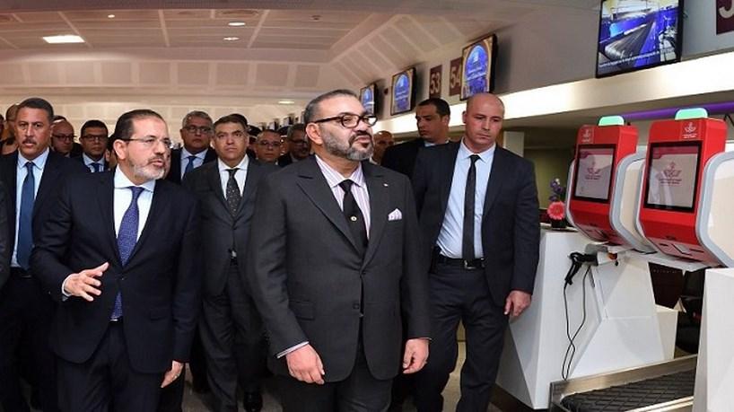 Infrastructures aéroportuaires : SM le Roi inaugure le nouveau Terminal 1 de l'aéroport Mohammed V