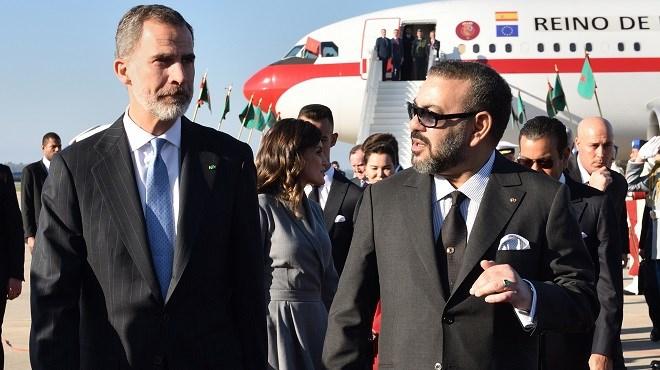 Arrivée au Maroc de SM le Roi Felipe VI d'Espagne et de la Reine Letizia