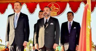 Cérémonie d'accueil officiel à Rabat de SM le Roi Felipe VI d'Espagne et la Reine Letizia