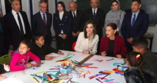 Salé : La Reine Letizia et SAR la Princesse Lalla Meryem visitent l'École de la Seconde chance