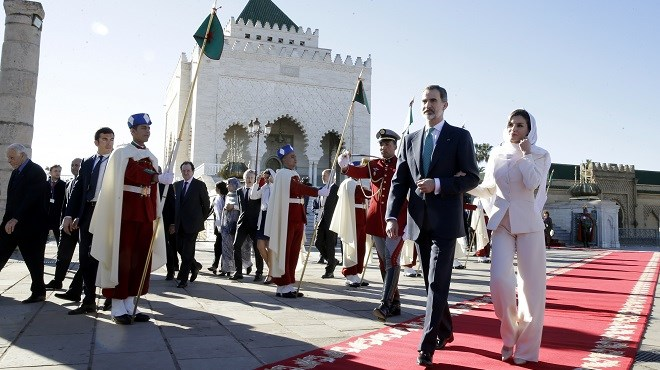 SM le Roi Felipe VI et la Reine Leitizia visitent le Mausolée Mohammed V