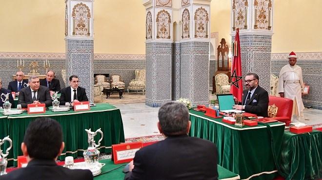 Le Roi Mohammed VI préside un conseil des ministres à Marrakech