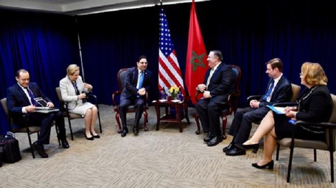 Washington : Bourita et Pompeo examinent l'élargissement de la coopération bilatérale aux questions régionales