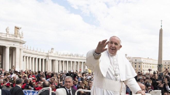 Arrivée du Pape François au Maroc