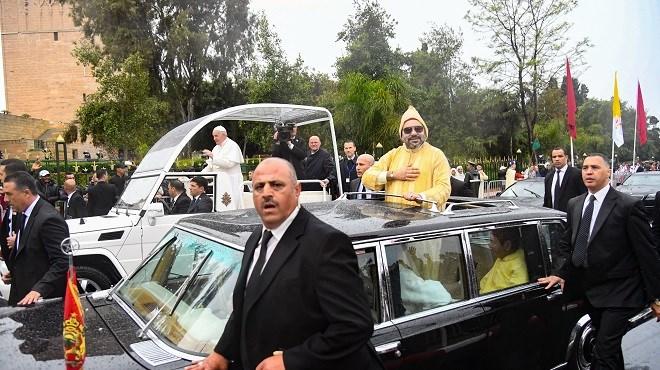 Cérémonie d'accueil officiel à Rabat de Sa Sainteté le Pape François
