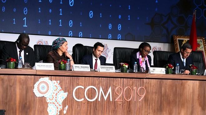 Marrakech : Ouverture des travaux des sessions ministérielles de la COM2019
