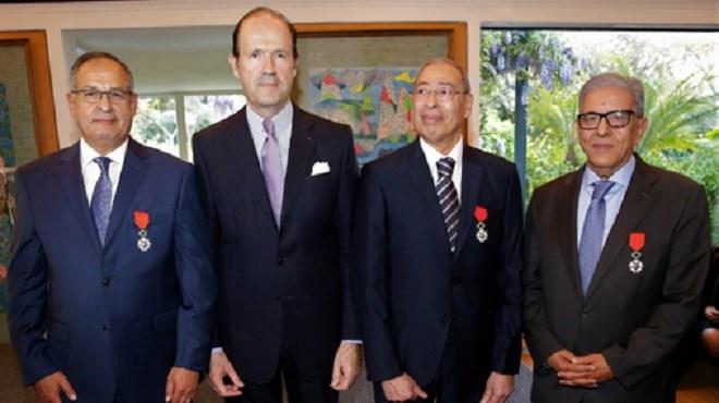 Trois personnalités marocaines reçoivent la Légion d'Honneur de la République de France