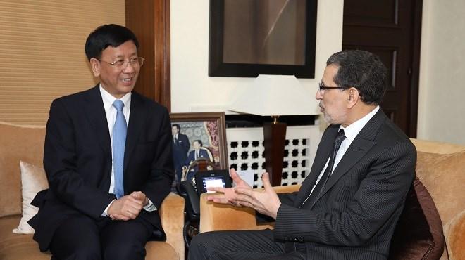 Saâd Dine El Otmani s'entretient avec Cao Jianming