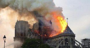 Paris : Violent incendie à la cathédrale Notre-Dame