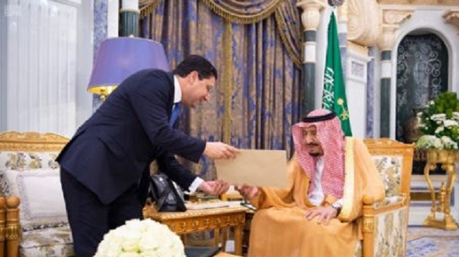 Riyad : Message de SM le Roi Mohammed VI au Serviteur des Lieux Saints