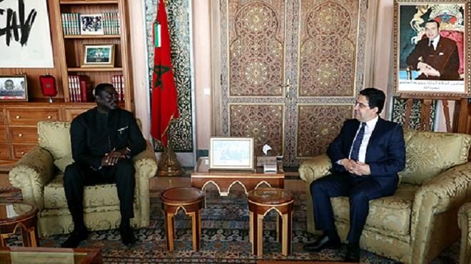 Bourita reçoit son homologue gambien, porteur d'un message à SM le Roi