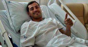 Après avoir souffert d'un infarctus, le joueur international, Iker Casillas, est en train de récupérer
