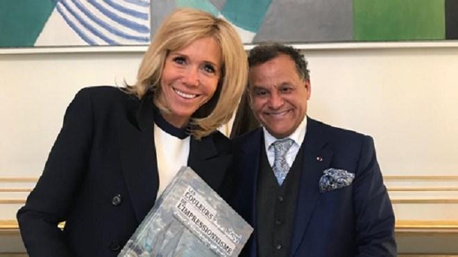 Mehdi Qotbi reçu à l'Elysée par Brigitte Macron