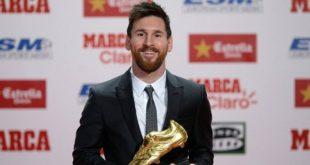 Lionel Messi remporte son sixième Soulier d'or