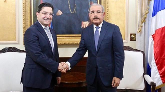 Le président de la République dominicaine reçoit en audience Nasser Bourita