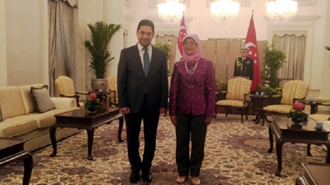Nasser Bourita reçu en audience par la Présidente de Singapour