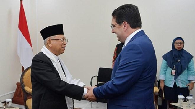 Bourita s'entretient à Jakarta avec le Vice-Président de la République et la Présidente de la Chambre des Représentants d'Indonésie