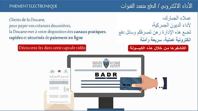 Douane : Nouvelle capsule vidéo sur le paiement électronique des créances douanières