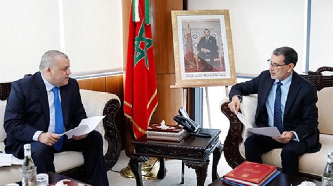 Saâd Dine El Otmani reçoit le président de l'Unité de traitement du renseignement financier