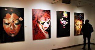 """Exposition """"A fleur de mondes"""" de l'artiste peintre Bouthaïna Azami"""