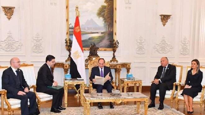 Égypte : Al-Sissi reçoit Nasser Bourita