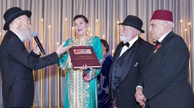 SAR la Princesse Lalla Hasnaa reçoit à Los Angeles le Livre d'Or