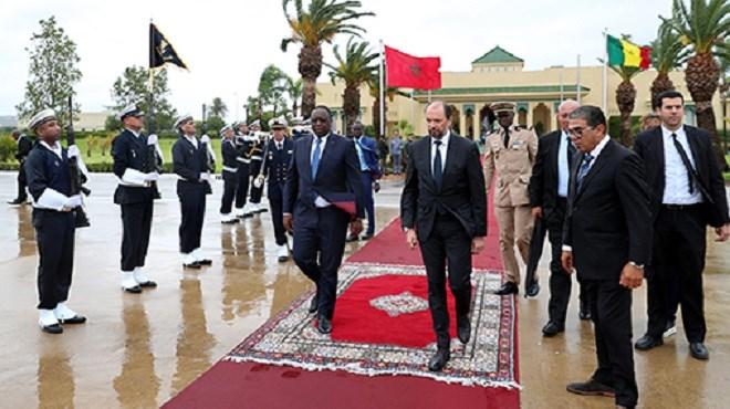 Le Président de la République du Sénégal quitte le Maroc