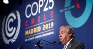 Climat : « Je suis déçu des résultats de la COP25 », Antonio Guterres