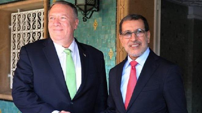 Rabat : El Otmani s'entretient avec Michael Pompeo