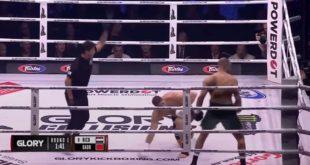 Glory Collision 2 : Badr Hari met 2 knock-downs à Rico Verhoeven, puis se blesse