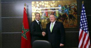 Abdellatif Hammouchi reçoit Mike Pompeo au siège de la DGST