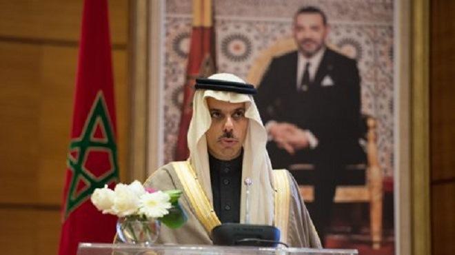 L'Arabie Saoudite salue l'engagement constant du Maroc à faire connaître la question d'Al Qods Acharif