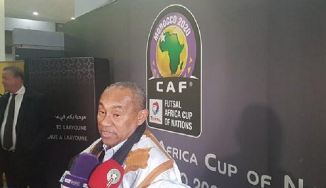 Le président de la CAF à Laâyoune pour la 6ème CAN de Futsal