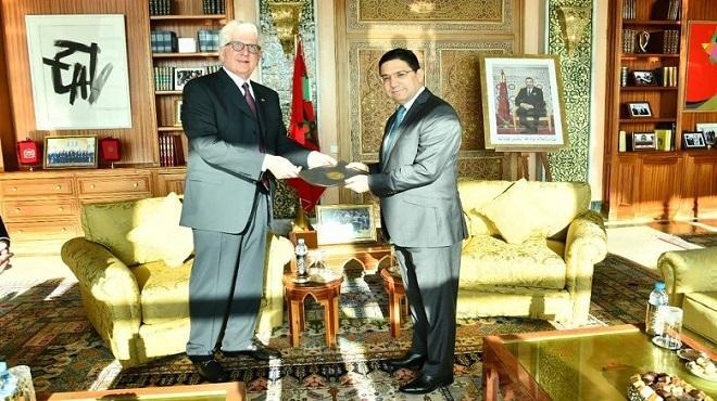 Nasser Bourita reçoit le nouvel ambassadeur des Etats-Unis