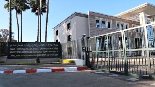 Principaux points du communiqué du MAE relatif à la reconnaissance par le Maroc du gouvernement bolivien