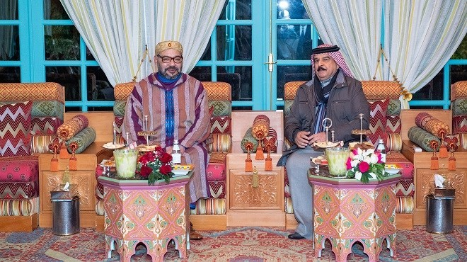 SM le Roi rencontre le Roi du Bahreïn
