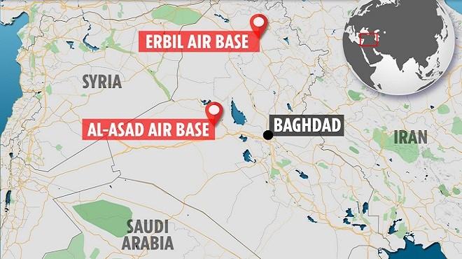 L'Iran tire 22 missiles sur des bases militaires américaines en Irak