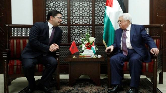 Amman : Mahmoud Abbas reçoit Nasser Bourita qui lui a transmis un message verbal de SM le Roi