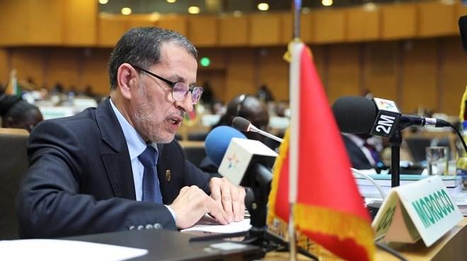 Addis-Abeba : El Othmani présente le rapport de SM le Roi à l'UA sur l'observatoire des migrations à Rabat