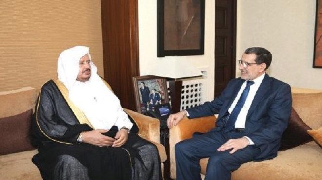 Rabat : El Otmani reçoit le président du Conseil saoudien de la Choura
