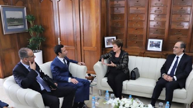 """K.Georgieva : Le FMI """"impressionné"""" par la détermination du Maroc à poursuivre ses réformes structurelles"""