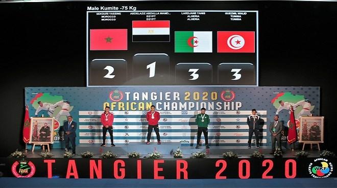 Championnat d'Afrique de karaté : Le Maroc remporte le titre avec 37 médailles dont 15 en or (Tanger-2020)
